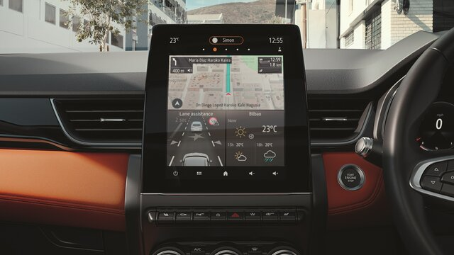 Renault CAPTUR interior, dashboard, driver's screen