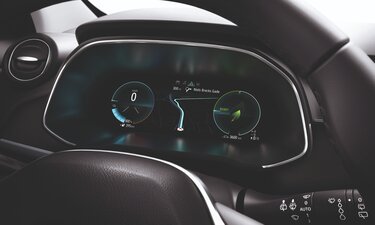 Renault ZOE driver's screen and dashboard
