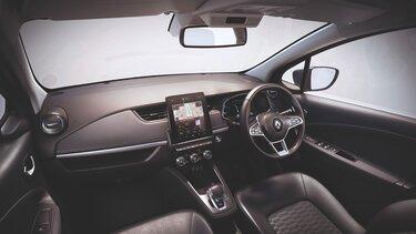 Renault ZOE interior, screen, dashboard