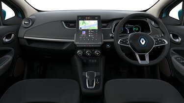 Renault ZOE interior, screen, dashboard