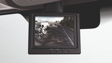 Rear view assist camera
