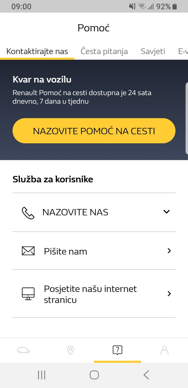 My Renault – aplikacija