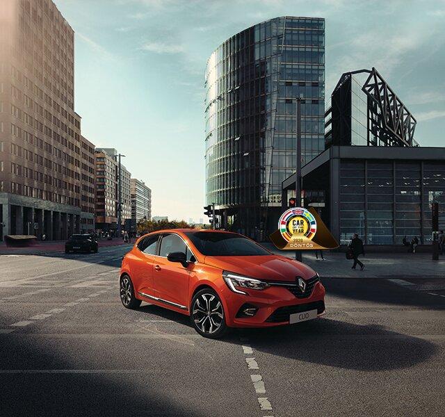 CLIO városi autó külső narancssárga megjelenése