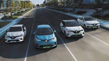 A Renault új hibrid autó kínálata: CLIO E-TECH Hybrid, CAPTUR E-TECH Plug-In Hybrid és MEGANE Grandtour E-TECH Plug-In Hybrid