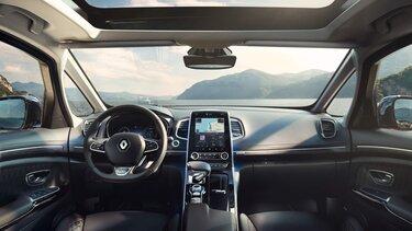 A Renault CONNECT szolgáltatásai az autó utasterében