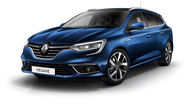 Renault MEGANE Sport Tourer in blue 3d