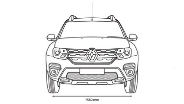 DUSTER front dimensions