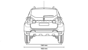 DUSTER rear dimensions