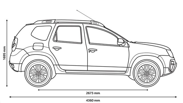 DUSTER side dimensions