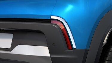 Rear bumper chrome