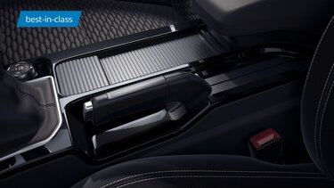 Centre Console with Storage Capacity of 7.5L