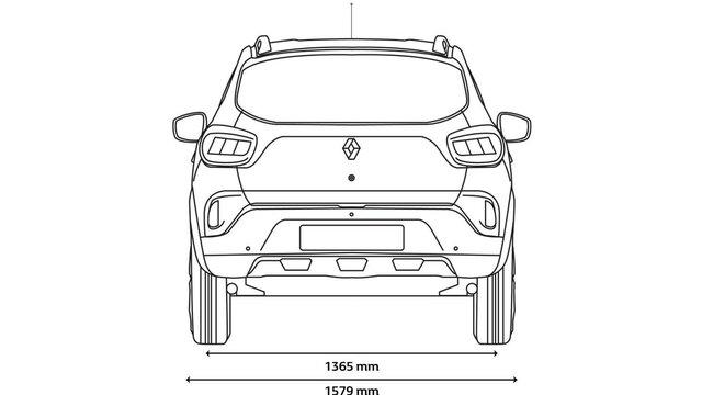 KWID rear dimensions