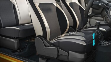 6-way adjustable driver seat with seat height adjust
