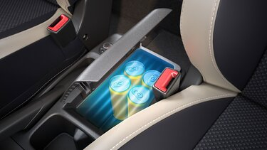 cooled storage in centre console