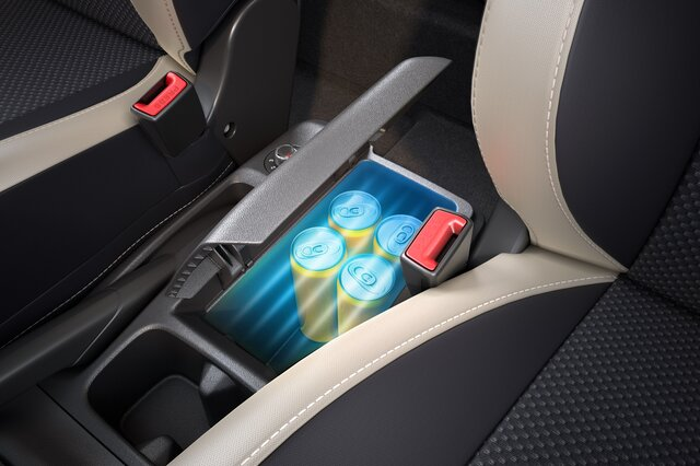Cooled storage in center console