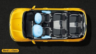 2 Front Airbags (Driver and Passenger) + 2 Side Airbags (Front Seats)