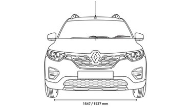 TRIBER front dimensions