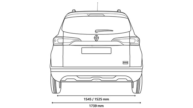 TRIBER rear dimensions