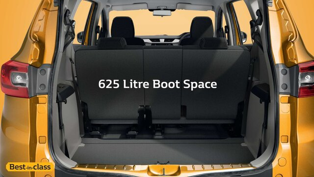 625 Litre Boot Space