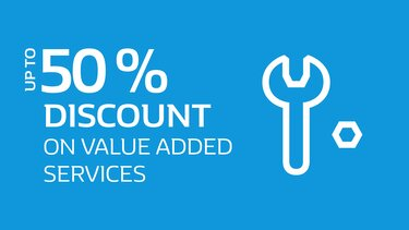 50% Discount on value added services