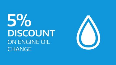 5% Discount on engine oil change