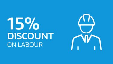 150% Discount on labour