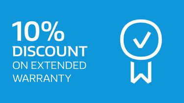 10% Discount on extended warranty