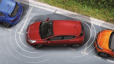 sensori parcheggio clio