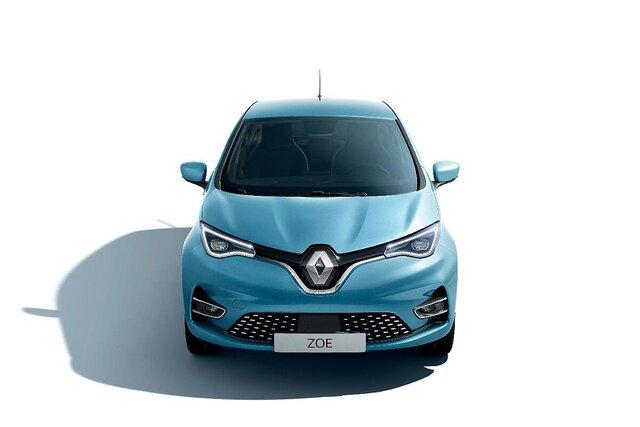 Renault ZOE blu lato anteriore