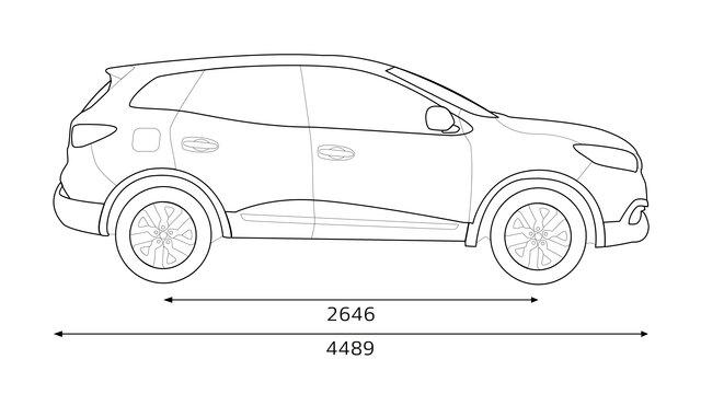 KADJAR  dimensions profil
