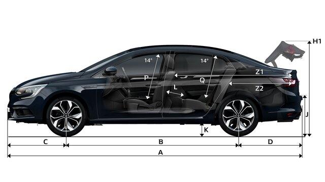 MEGANE Sedan dimensions profil
