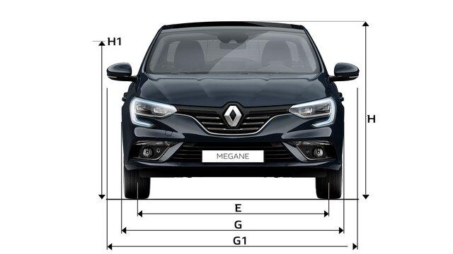 MEGANE Sedan dimensions face avant