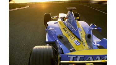 RENAULT F1 R24 close-up rear view