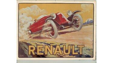 RENAULT 40 CV TYPE MC affiche publicitaire