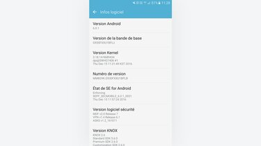 version logicielle Android