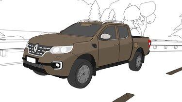 Renault ALASKAN kleurplaat
