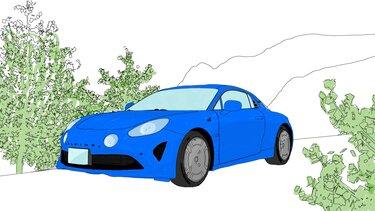 Autós színező és kifestő – Renault ALPINE A110