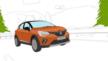 Autós színező és kifestő – Renault CAPTUR