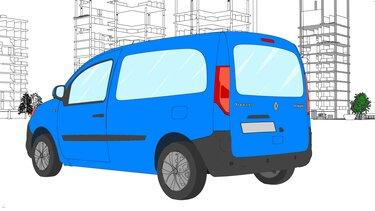 Autós színező és kifestő – Renault KANGOO
