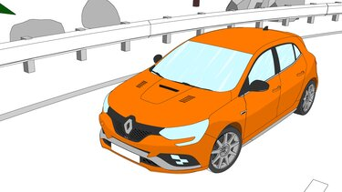 Autós színező és kifestő – Renault MEGANE R.S