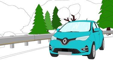 Autós színező és kifestő – Renault ZOE