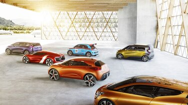 Renault Concept Car Modellpalette