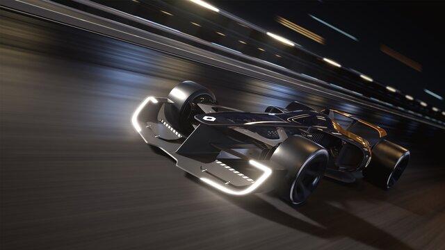 R.S. 2027 VISION Formula One op het circuit