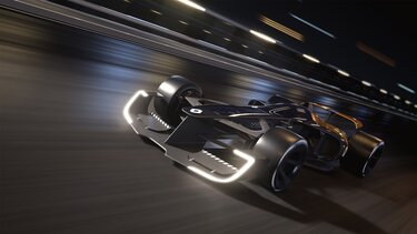 R.S. 2027 VISION Formula One on the race track