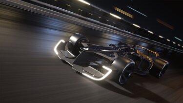 R.S. 2027 VISION Formel 1 auf der Rennstrecke