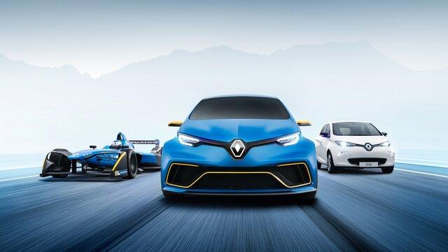 Renault ZOE e-Sport Concept front end