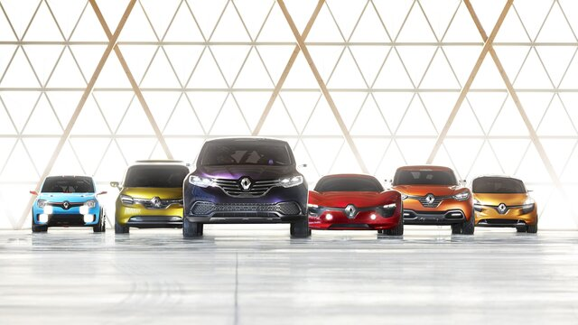 Concept Cars Modellpalette