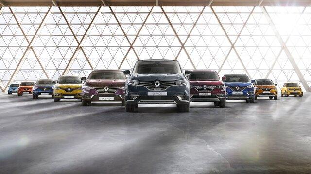 Die Renault Modellpalette mit Nutzfahrzeugen und Personenwagen