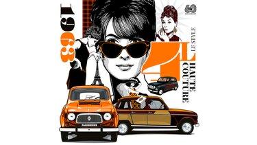 Illustration Greg - Renault 4 - Haute Couture