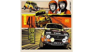 Illustration Greg - Renault 4 - Rallye Dakar